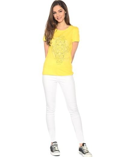 Limon Company Desenli Tişört Sarı